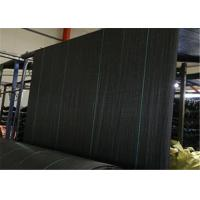 China PP Geotextile Landscape Fabric , Black Color Weed Barrier Mat With UV Treatment on sale