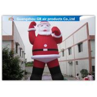 China Outdoor Large Blow Up Inflatable Santa Claus For Christmas Decorations on sale