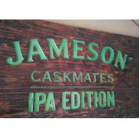Buy cheap Custom Printed Wood LED Signs & LED Displays Rectangular Shape Hanging Type from wholesalers