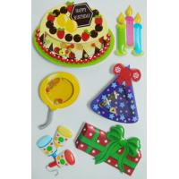 Colored Birthday Cake 3d Birthday Stickers , Personalised Kids StickersRemovable Manufactures