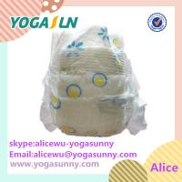 Magic tape high quality soft cotton fabric sleepy baby diaper Manufactures