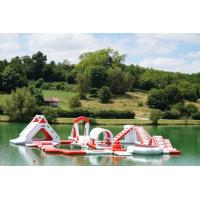 Inflatable Commercial Water Park / Lake Inflatable Water Games Park Manufactures