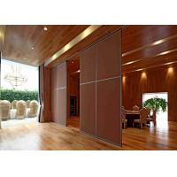 Eco - Friendly  Sliding Screen Room Divider Acoustic Insulation Vinyl Finish Manufactures