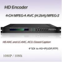 REH2304 Digital TV HD-SDI TO ASI&IP Four-Channel MPEG-2/H.264 HD IPTV System Encoder Manufactures