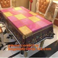 Popular Colorful Plastic Pvc Dining Table Cover,PVC PEVA compound table cloth/ covers,Eco-Friendly Adhesive Tablecloth R Manufactures
