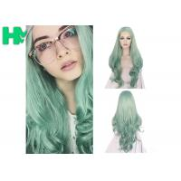 Fashion Multi Color Synthetic Cosplay Wigs , Long Curly Wave Hair Wigs Manufactures