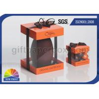 Logo Printed Transparent PVC Boxes , Gift Paper Box with Clear Plastic Window Manufactures