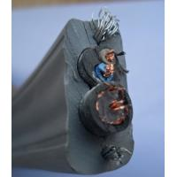 Flat Cable with TV coaxial Cable with POWER Cable with 2 Steels For Elevator project Manufactures