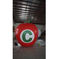 3.5m Height Apple Shaped Balloons Pantone Color Matched Printing Large