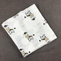 Cute Prints Swaddle blanket 100% Cotton Flannel baby receiving blankets Soft Touch Blanket Manufactures