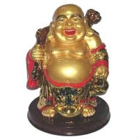 China Gold Buddha of Wealth Feng Shui on sale