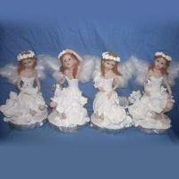 Christmas-designed Polyresin Angel Painting, Customized Designs and Sizes are Welcome Manufactures
