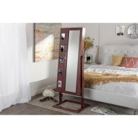 Full Length Mirror With Jewelry Storage With Lock Up / Photo Holders Manufactures