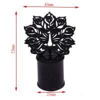 China Design Luxury Peacock Metal Perfume Cap For Neck Of EAF15 Perfume Glass on sale