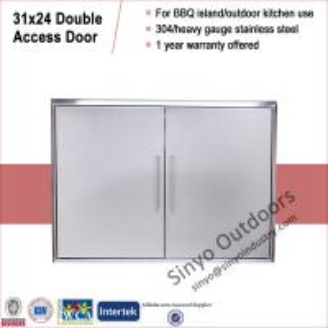 China Outdoor Kitchen Island Double Door on sale