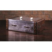 China classical style antique aluminium coffee table with drawers on sale