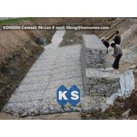Heavy Galvanized Gabion Basket Retaining Wall Of Twisted Hexagonal Wire Mesh Manufactures