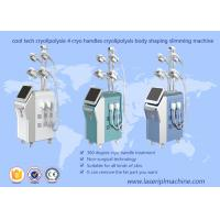 Body Shaping Cryolipolysis Vacuum Machine , 4 Handles Cryolipolysis Fat Freeze Slimming Machine Manufactures