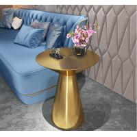Contemporary design Round Gold stainless steel Bistro table Corner table Pub table for hotel Club Cafe Manufactures