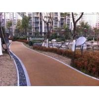 Noise Absorbting EPDM Rubber Jogging Track Concrete / Asphalt Foundation For Public Areas Manufactures