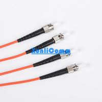 Armoured Fiber Optic Patch Cord , Multi Mode Duplex Fiber Optic Cable ST - ST Manufactures