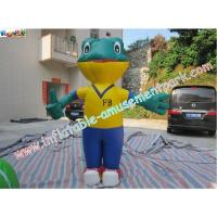 Durable Advertising Inflatables , 0.4mm PVC Tarpaulin Inflatable Frog for sale