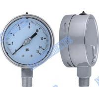 "4 Inch with 1/2"" connector bottom welding stainless steel pressure gauge Manufactures"