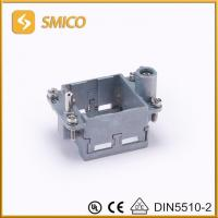 Hinged frames for industrial multipole connector modular connector replacement HARTING