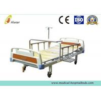 China ABS One Shark Medical Hospital Patient Beds With Al-Alloy Handrail Wooden Bedboard (ALS-M113) on sale