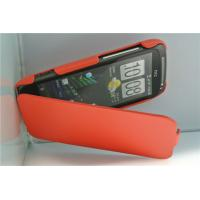 Red plain PU leather flip case protect cover for HTC mobile phone,MOQ200pcs,China supplier Manufactures