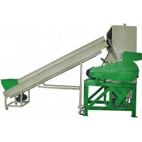 Post Consumer HDPE PET Plastic Bottle Crushing Machine With V Type Single Shaft Manufactures