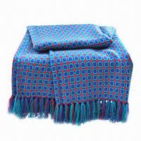 Buy cheap Woven Lantern Throws, Made of Acrylic, Measures 127 x 152cm  from wholesalers