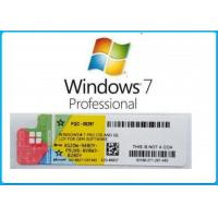 China Full Version Microsoft Windows 7 Key Sticker Easy Using Activation Online on sale