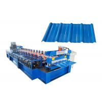 China High Power Roof Tile Roll Forming Machine Hydraulic Pressure 10-12MPa With Gear Box Drive on sale
