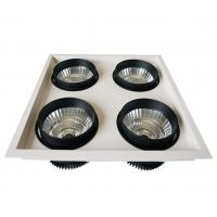 China Four Head SAA COB Grille LED Ceiling Downlights  60W / 80W / 120W With Reflector on sale
