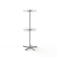 2 Layers Rotating Turntable Display Stand With Round Pegs Manufactures