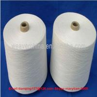 Quality 100% spun polyester yarn 40s/1 raw white for sale