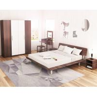 Simple Japanese tatami type bed 1.5 meters MDF with metal double bed and 1.8 single bed 1.2 modern creative walnut color Manufactures