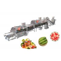 Industrial Cleaning And Drying Machine For Vegetable And Fruit 1-3T/H Capacity Manufactures