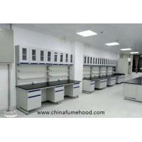 Customized Wall Chemistry Lab Furniture With Reagent Shelf Resistance Acid Manufactures