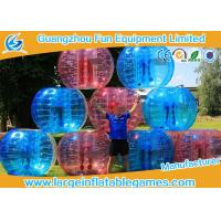 Soft Handle / Safe Belt Inflatable Bumper Ball Transparent SGS CE Certification Manufactures