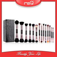 China 2017  fashion  14pcs Double Sided Brush Sets Makeup Private Label Double End Cosmetics Brush Set Wholesale on sale