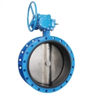 China Worm Gear Actuated 150LB Flange Butterfly Valve on sale