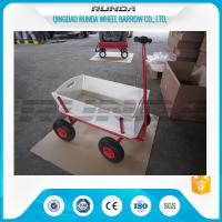 Tarpaulin Wooden Garden Mesh Cart TC1812 Durable Convenient Carriage SGS Manufactures