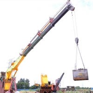 26M Electric 8T Telescopic Boom Offshore Ship Deck Cranes Manufactures