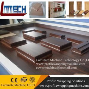 Melamine Door Panel vacuum membrane press machine Manufactures