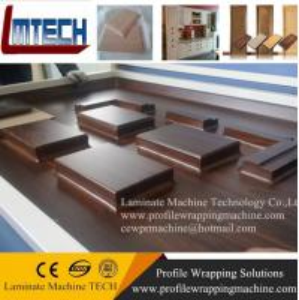China pvc high polymer kitchen cabinet door vacuum membrane press machine on sale