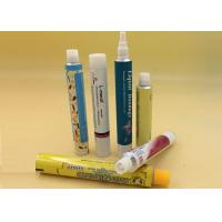 Dia 13.5 - 40mm Aluminum Cosmetic Tubes , Collapsible Eco Tube Packaging Manufactures