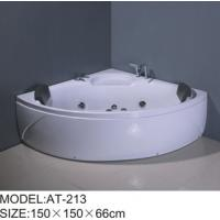 750W surfing pump Air Bubble Bathtubs corner 6 big jets adjustable Shower Holde Manufactures