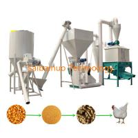 China Poultry Chicken Cattle Cow Feed Pellet Line , Feed Production Line For Algeria Market on sale